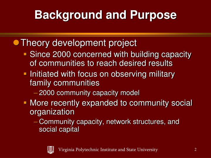 Theory development project
