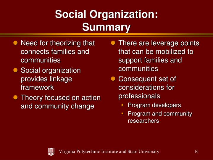 Need for theorizing that connects families and communities