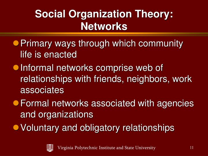 Primary ways through which community life is enacted