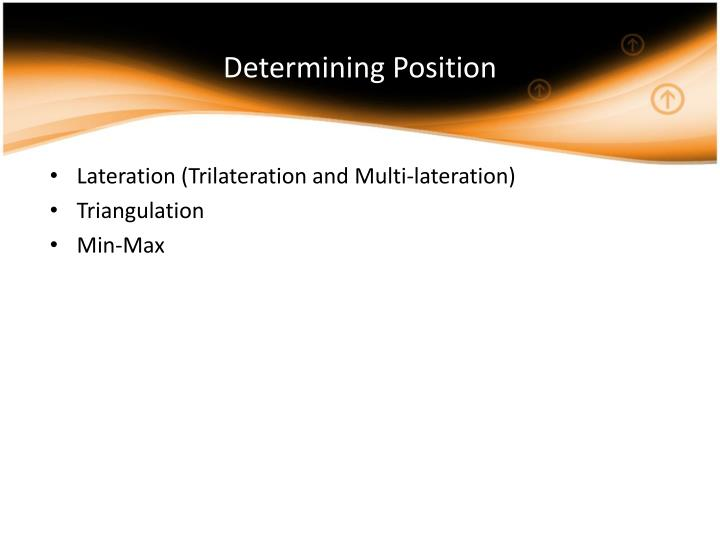 Determining Position