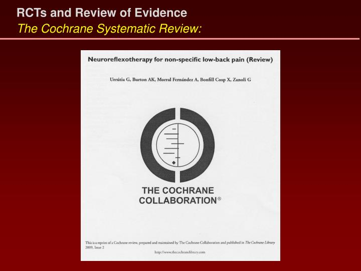RCTs and Review of Evidence