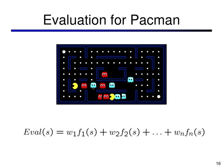 Evaluation for Pacman