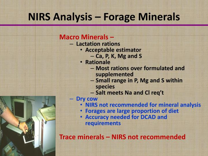 NIRS Analysis – Forage Minerals