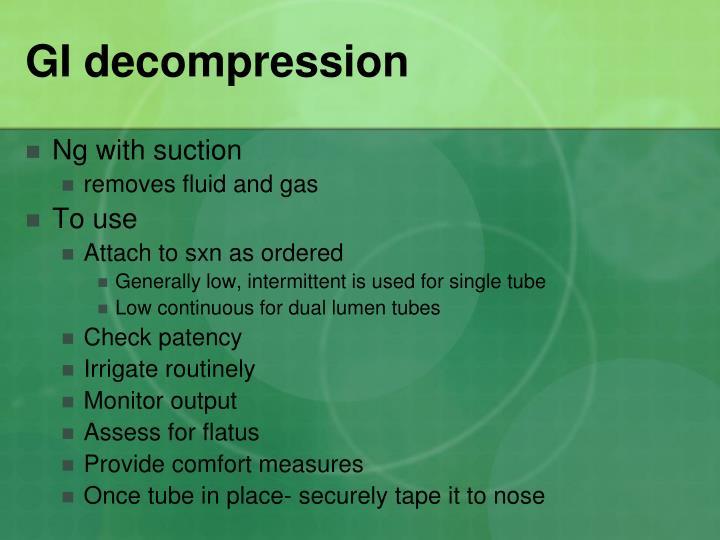 GI decompression