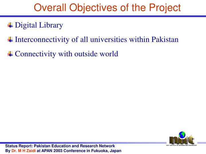 Overall Objectives of the Project