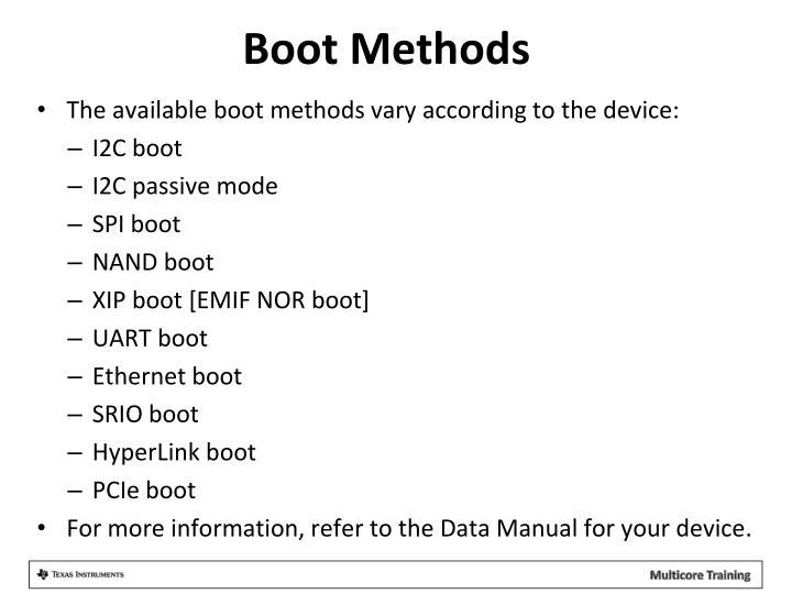 Boot Methods