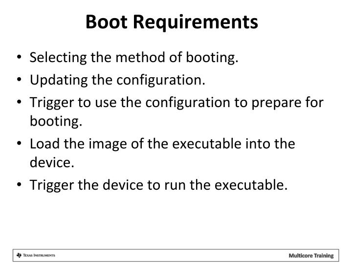 Boot Requirements