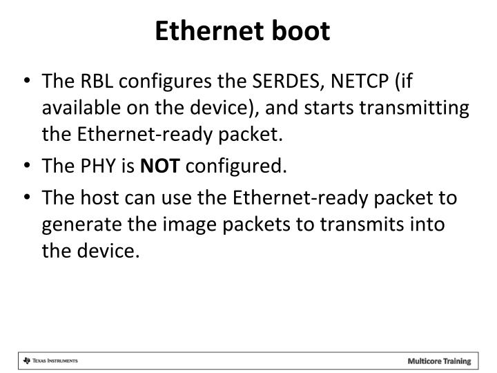 Ethernet boot