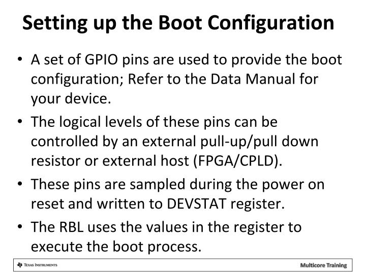Setting up the Boot Configuration