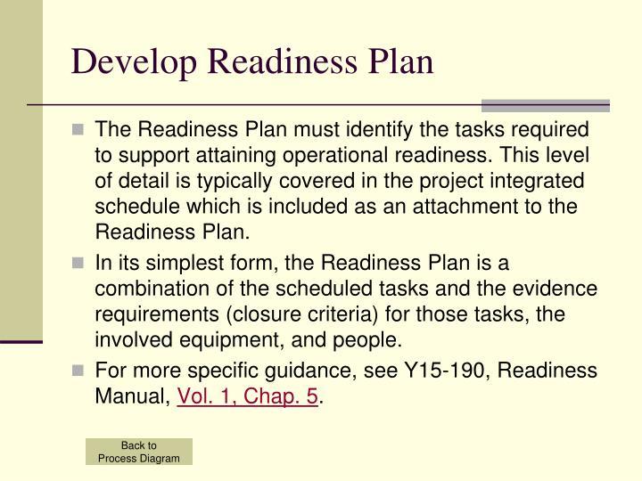 Develop Readiness Plan