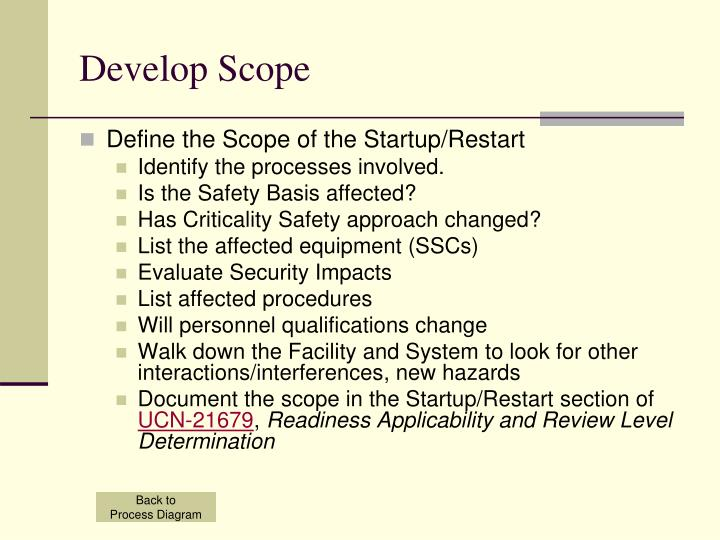 Develop Scope