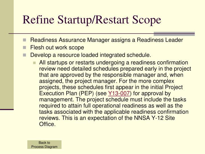 Refine Startup/Restart Scope