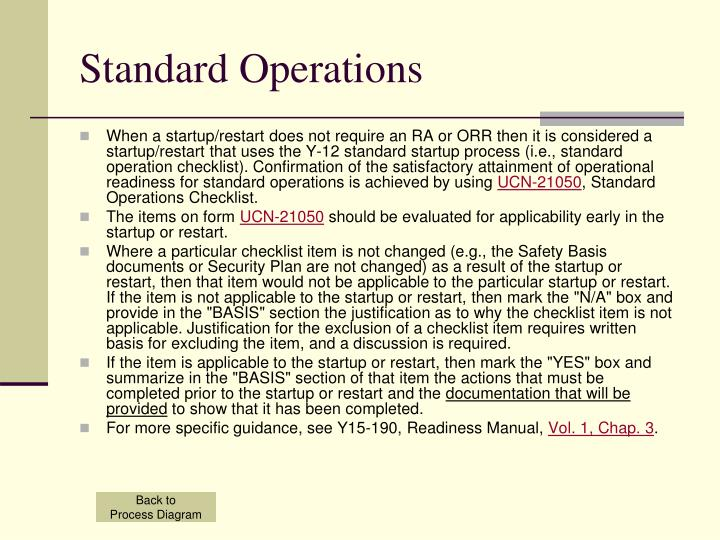 Standard Operations