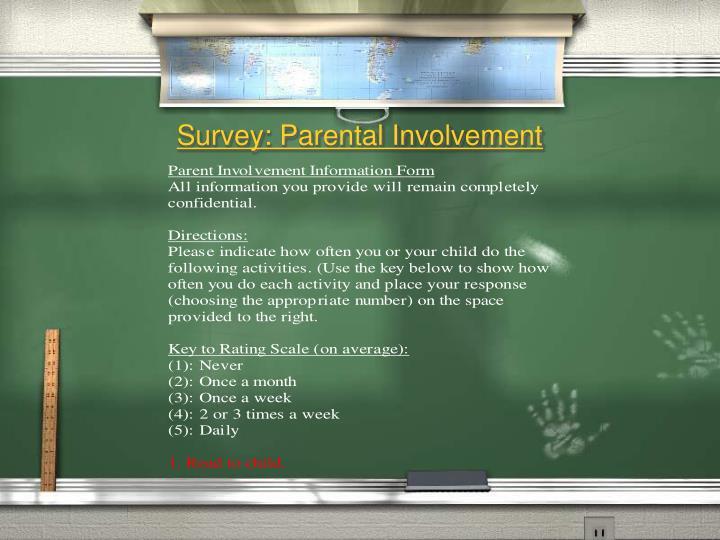 Survey: Parental Involvement
