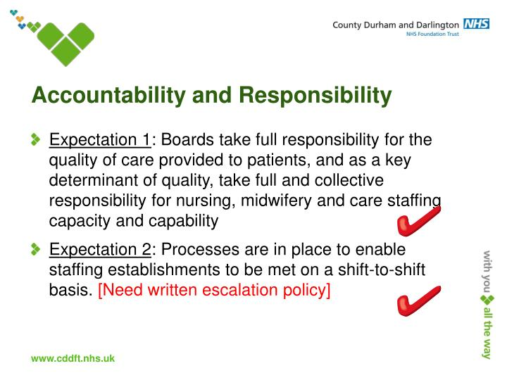 Accountability and Responsibility