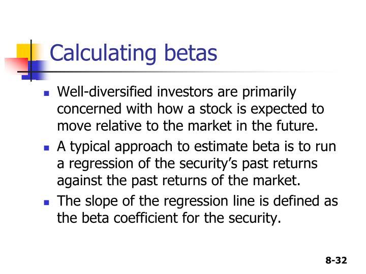 Calculating betas