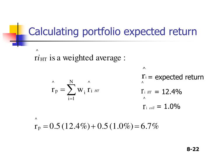 Calculating portfolio expected return