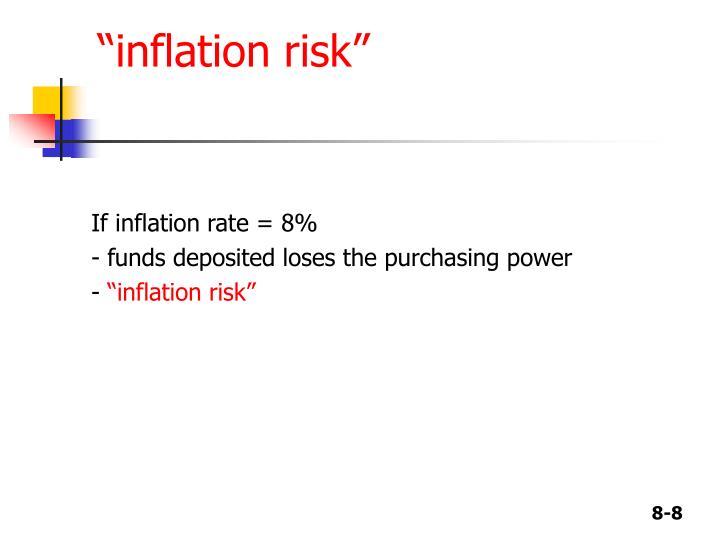 """""""inflation risk"""""""
