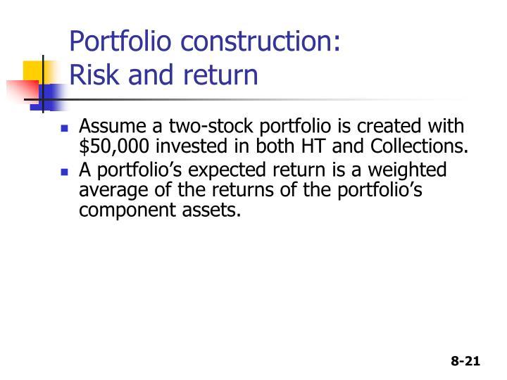 Portfolio construction: