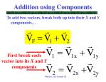 addition using components