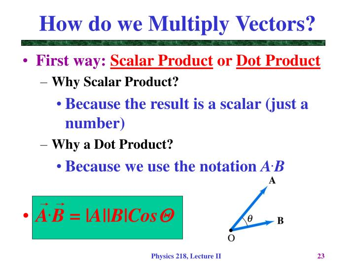 How do we Multiply Vectors?