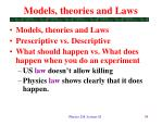 models theories and laws