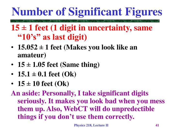 Number of Significant Figures