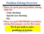 problem solving overview