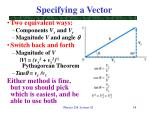 specifying a vector