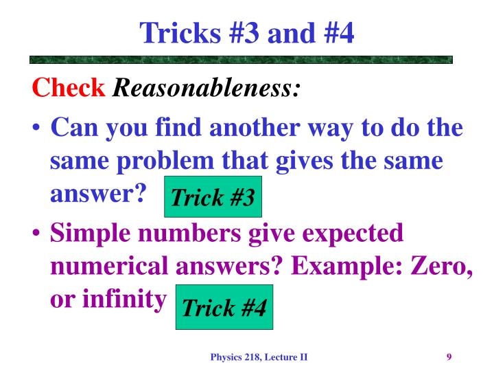 Tricks #3 and #4