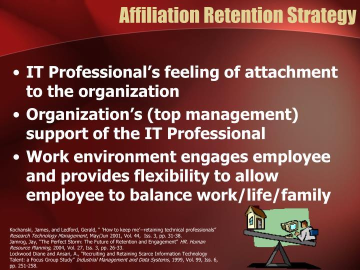 Affiliation Retention Strategy