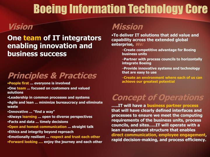 Boeing Information Technology Core