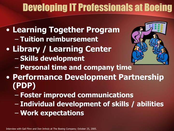 Developing IT Professionals at Boeing