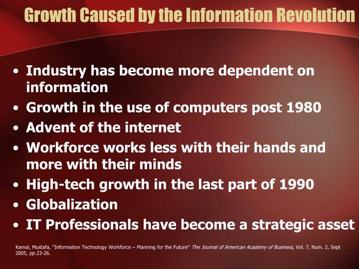 Growth Caused by the Information Revolution
