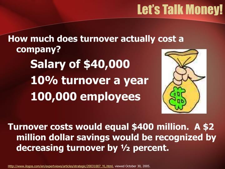 Let's Talk Money!