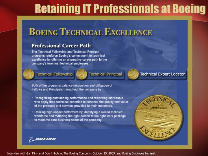 Retaining IT Professionals at Boeing