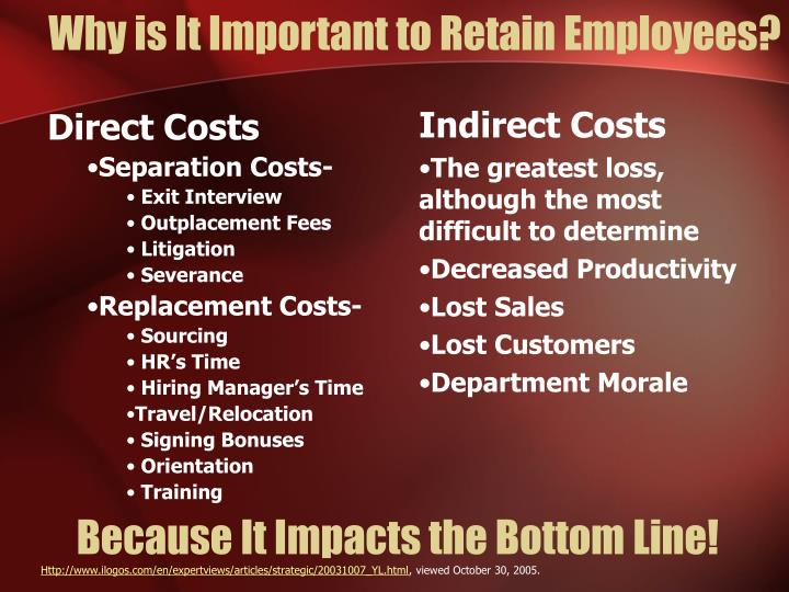 Why is It Important to Retain Employees?