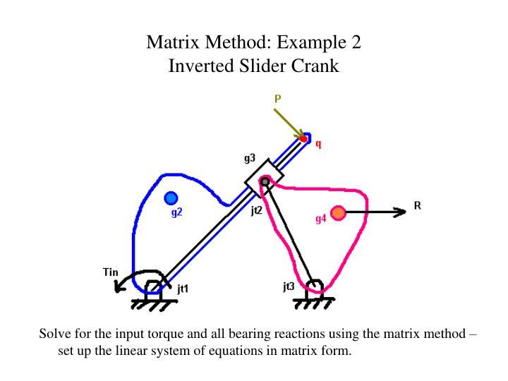 Matrix Method: Example 2
