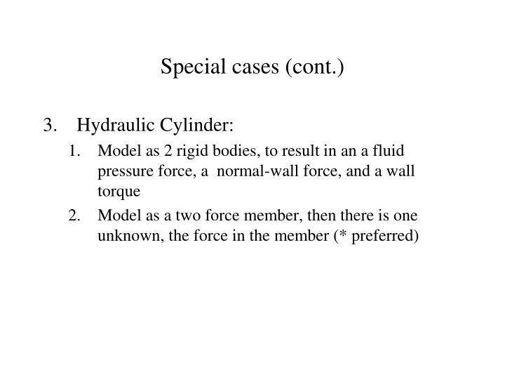 Special cases (cont.)