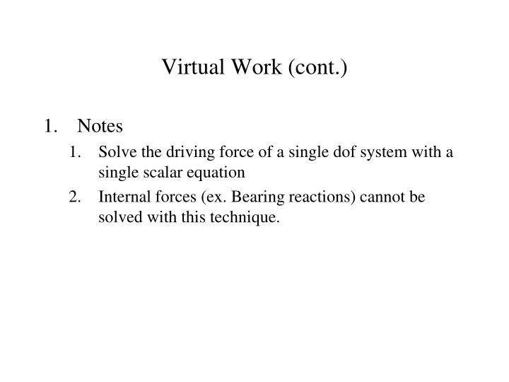 Virtual Work (cont.)