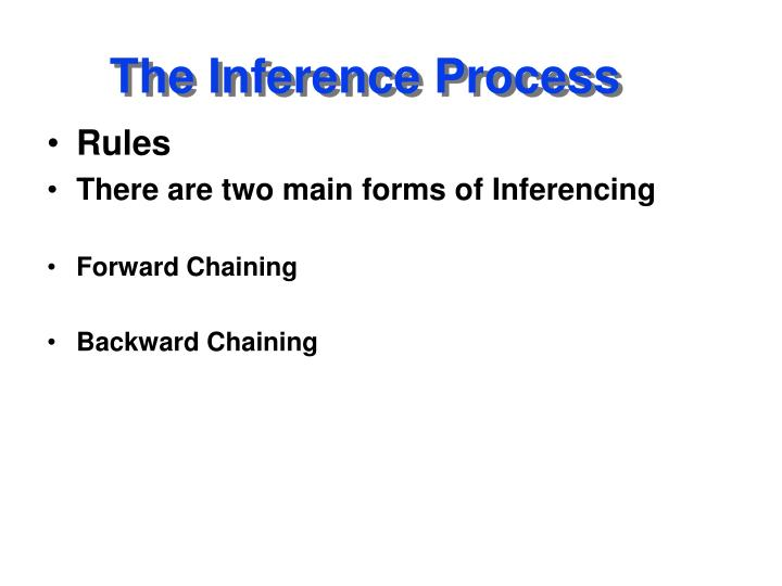 The inference process