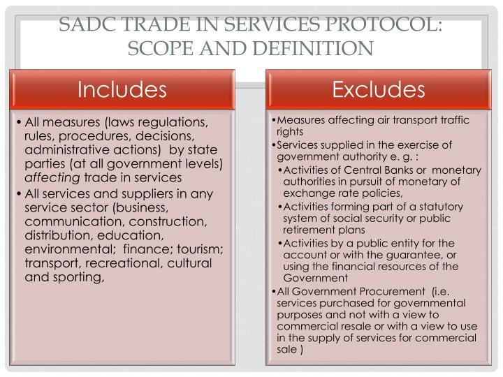 SADC Trade in Services Protocol