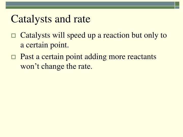 Catalysts and rate