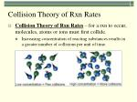 collision theory of rxn rates