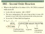 ire second order reaction2