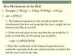 rxn mechanisms the rle