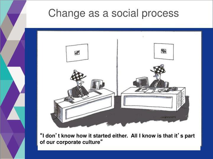 Change as a social process