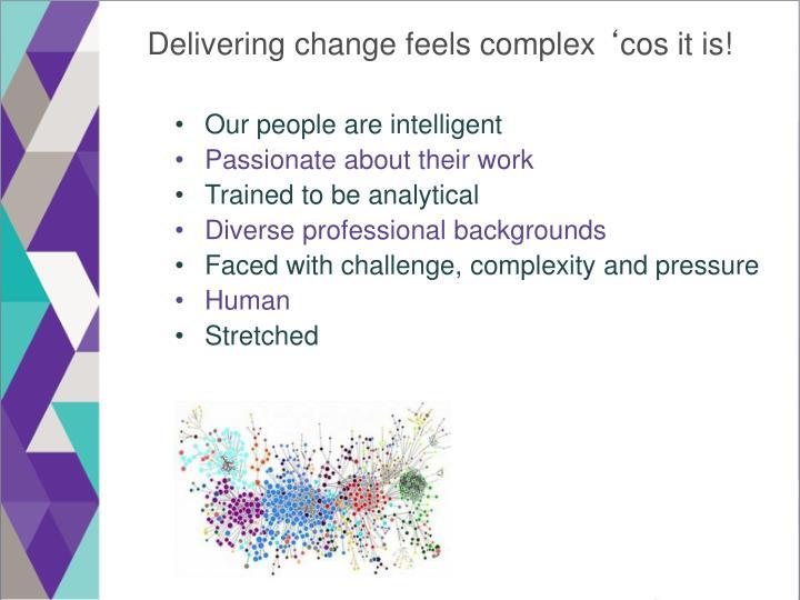 Delivering change feels complex