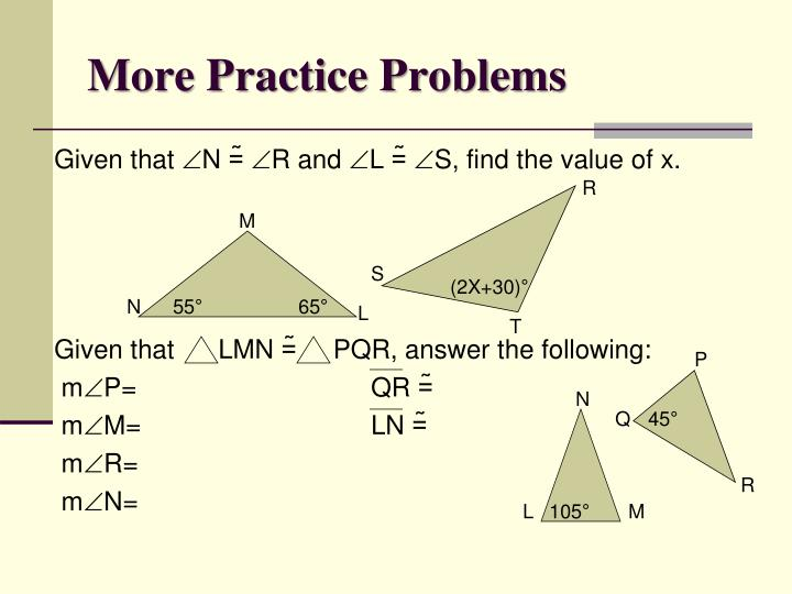 More Practice Problems