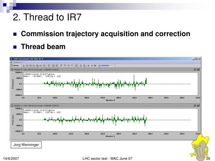 2. Thread to IR7